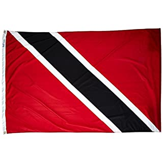 Annin Flagmakers 198517 Nylon SolarGuard Nyl-Glo Trinidad and Tobago Flag, 4 x 6'