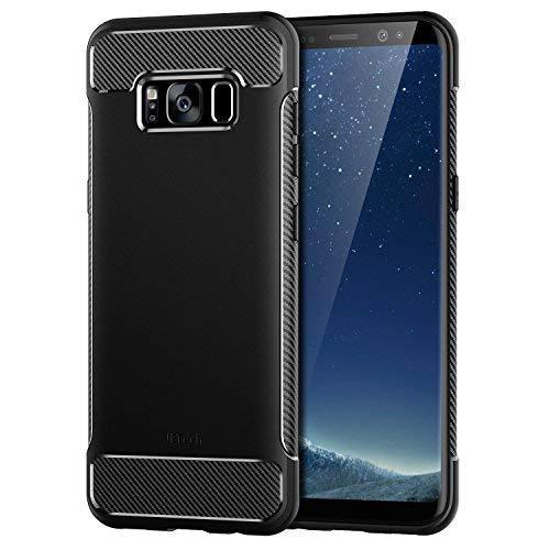 JETech Cover per Samsung Galaxy S8, Custodia con Assorbimento degli Urti e Fibra di Carbonio, Nero