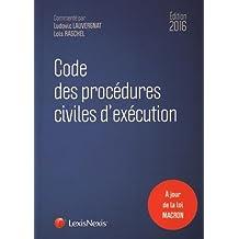Code des procédures civiles d'exécution 2016