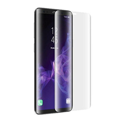 Sansee 3D PET Gebogen Voll HD Klar Explosionsgeschützte Displayschutzfolie Schutzfolie Folie für Samsung Galaxy S9 (Für Samsung Galaxy S9, S9 Vorderseite Schutzfolie) -