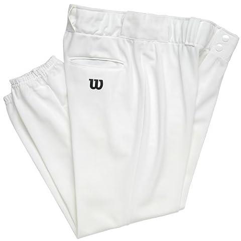 Wilson Adulte Heavyweight Poly Warp Tricot de baseball pour homme avec couture intérieure 78,7cm, Homme femme, blanc, xx-large