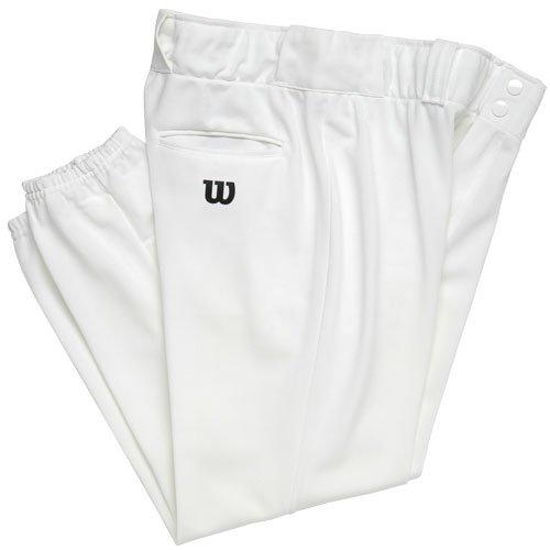 Wilson Erwachsene schwere Poly Warp Knit Baseball Hose mit 71,1cm Hosenlänge, damen Herren, weiß