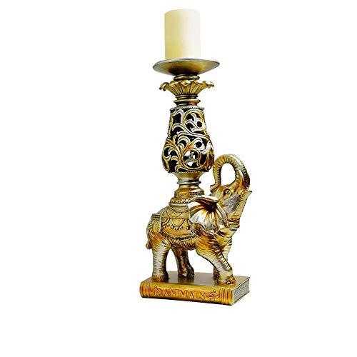 Axiba Retro Elefante Resina candelabro Velas Cena Apoyo 34 * 9. 5 * 14 cm