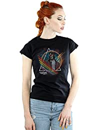 Marvel Femme Guardians of the Galaxy Neon Star Lord Masked T-Shirt X-Large Noir