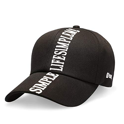 Sandy Cowper Lässige Baseballmütze Männer Frauen Einfache Cap Shade Sun Cap Trendy Papa Hut (Color : Black, Size : M) -