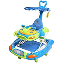 (Renewed) Sunbaby Funky Car Walker (Blue)