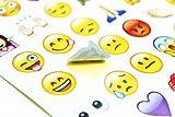 Emoji Aufkleber 19 Blätter mit Emojis Gesichter Kid Aufkleber von iPhone Facebook Twitter Test