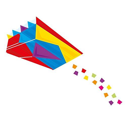 Drache Mini-Parafoil 60x51cm Kinderdrache ohne Stäbe Parafoil Einleiner Spieldrache Flugdrache