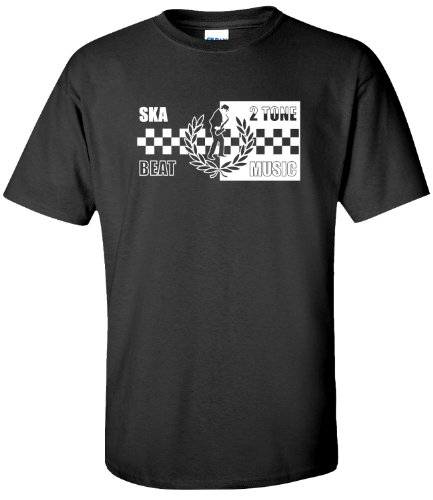 Ska 2 Tone T Shirt (Adult's) - Black