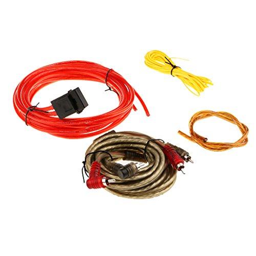 Homyl Viele Auto Audio Radio Subwoofer Verstärker Amp Wiring Sicherungshalter Draht Kabel Kit (Kit Wiring Verstärker Auto)