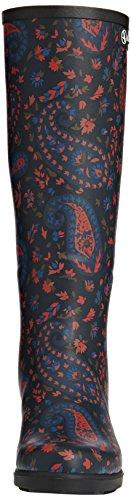 Aigle  Miss Juliette Print Gummistiefel, Bottes en caoutchouc non-fourrées, tige haute femmes Multicolore (Marine/Paisley)