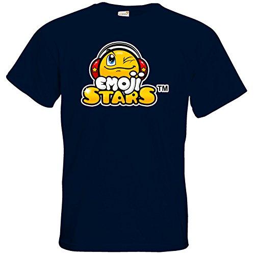 getshirts - b-interaktive Official Merchandise - T-Shirt - Emoji Stars Navy