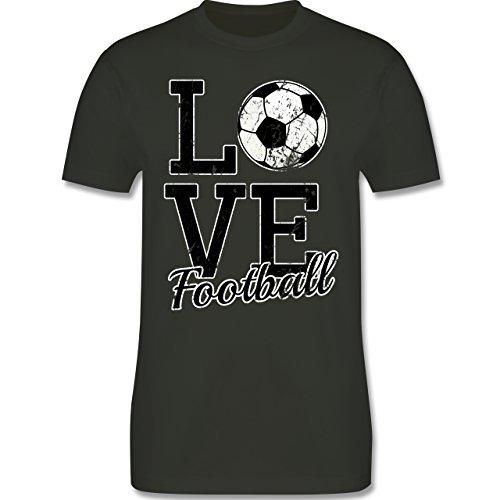 Fußball - Love Football - Herren Premium T-Shirt Army Grün
