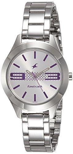 41lTqaXexiL - 6153SM01 Fastrack Silver Women watch