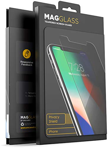 Encased Apple iPhone XS Max Glas mit Sichtschutz - Case Friendly Anti Spy Tempered Glas Folie - Privacy Screen Protector & Anti Fingerabdruck Displayschutz in Premium Qualität Anti Glare Screen