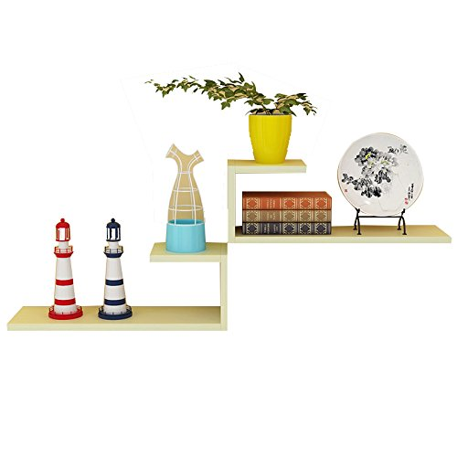 Floating-draht-regal (XING ZI Shelf C-K-P Wandregal 60 * 20 * 14CM Wand Wohnzimmer Wort-förmige Partition Unsichtbare Draht Installation Wand-Regal Regale Bücherregal Dekoration (Farbe : 7))