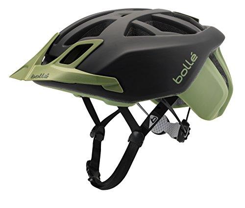 Bollé the one mtb, casco da bici unisex-adulto, nero/khaki, 58-62 cm