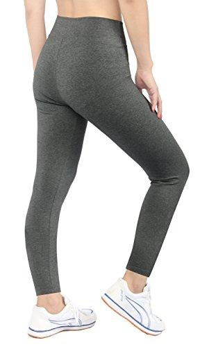 iLoveSIA® Femme Leggings de sport pantalons opaque belle coupe et confortable Gris legging longue