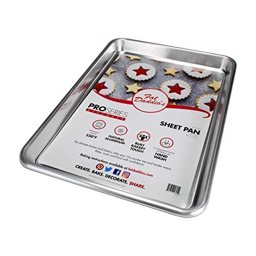 Fat Daddio's 18 Aluminum Gauge Half Sheet Pan by Fat Daddios 18 Gauge Sheet Pan