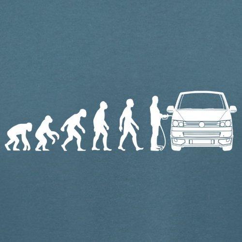 Evolution of Man VW T5 - Damen T-Shirt - 14 Farben Indigoblau