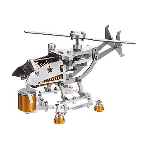 F Fityle Metall Stirlingmotor Modell Heißluftmotor, Geschenk für Freunde und Familien - Silebr + Gold