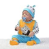 Lvbeis Reborn Puppen Silikon Körper Wasserdicht Echte Lebensecht Baby Puppe Realistisches Newborn Doll Spielzeug 56cm