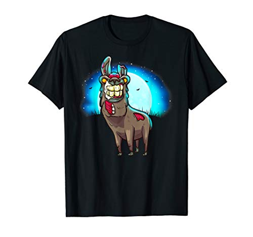 Gross Zombie Bestie Möglicherweise Ein Ehemaliger Lama T-Shirt
