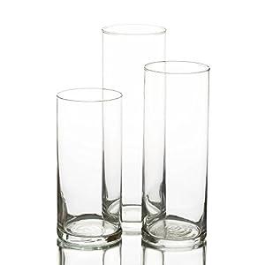 Vase Cylindrique pour Bougie Lot de 3
