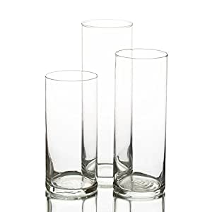 Eastland glass cylinder vase set of 3 for Schwimmkerzen ikea