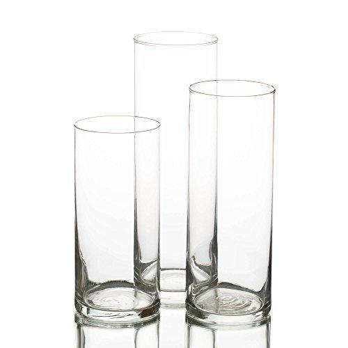 Quick Candles - Set da 3 vasi cilindrici per candele