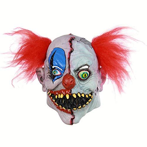 Joker Kostüm Maskerade - JNKDSGF HorrormaskeHalloween Toothy Creepy Horrible Realistische Joker Clown Mask Maskerade Liefert Cosplay Kostüme Party Requisiten