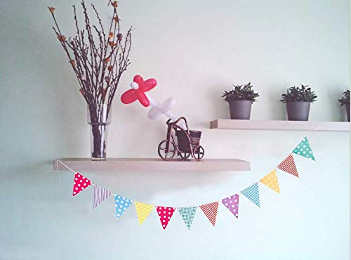 Vikenner Wimpelkette mit, Mehrfarbig Wimpel mit, Dreieck Flaggen, Klein Bunting Banner für Geburtstag, Hochzeit, Outdoor, Indoor Aktivität, Garten, Party Dekoration Bunting Pink