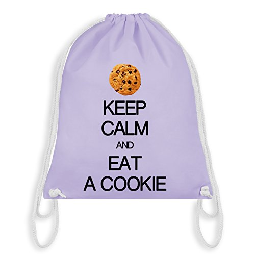 Keep calm - Keep calm and eat a cookie - Unisize - Pastell Lila - WM110 - Turnbeutel & Gym ()
