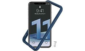 RhinoShield Bumper Case für iPhone 11 Pro Mod NX - Schockabsorbierende Dünne Schutzhülle 3.5 Meter Fallschutz - Königsblau