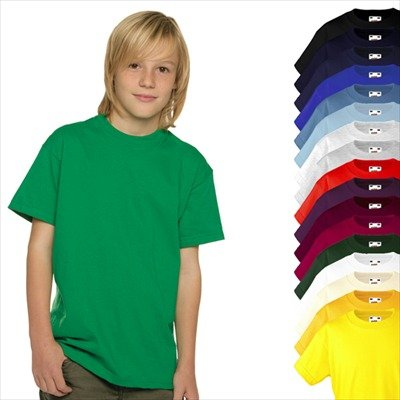 KINDER T-SHIRT FRUIT OF THE LOOM VALUE 128 140 152 164 140,Yellow