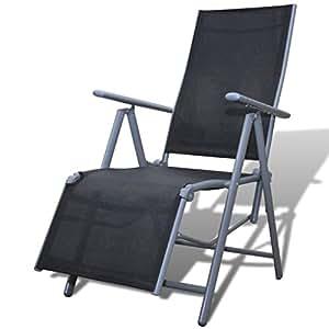 Meuble de Jardin Chaise Pliante Armature en Aluminium