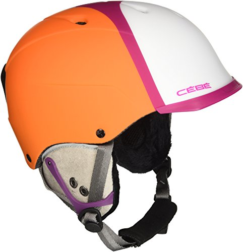 Cébé Contest Visor Pro Skihelm, Matt Orange Purple Pink, 53-57 cm