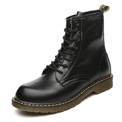 hsene Chelsea Boots Damen Stiefel Wasserdicht Kurz Stiefeletten Schuhe Herren Combat Worker Boots,Schwarz,42 EU ()