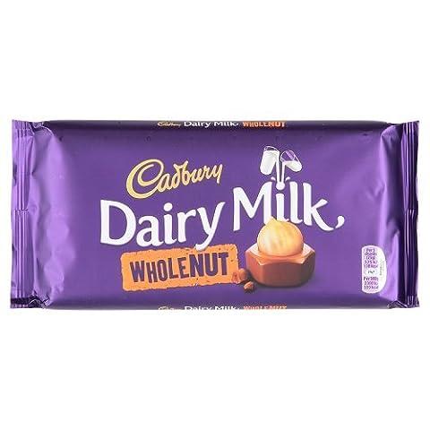 Cadbury Barre au Chocolat au Lait/Noisettes Entières 99 g