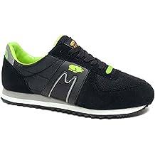 Karhu FS Nylon - Zapatillas para hombre, color verde / amarillo