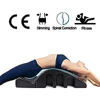 Pilates Spine Yoga Pilates Pilates Spine Corrector - Pilates Mesa de masajes Spine equipo de alineación, el dolor de espalda Alivio Volver Curva Salud Negro, corrección de la columna vertebral cervica