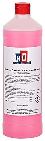 1L Flüssig-Entkalker mit Farbindikator für Kaffeevollautomaten   geeignet für z. Bsp. deLonghi, Tassimo, Dolce Gusto, Melitta, Nespresso, Saeco, Senseo