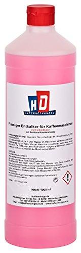 K Kaffeereiniger24 Flüssig-Entkalker für Kaffeevollautomat mit Farbindikator 1000ml | universeller Kalklöser für Kaffeevollautomaten und Kaffeemaschinen