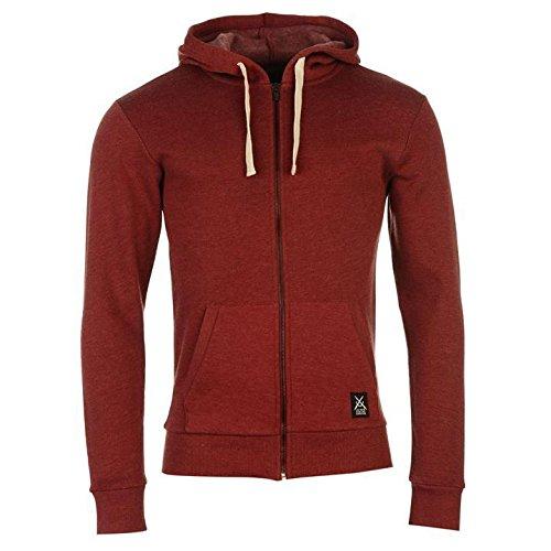 Jilted Generation Skinny Full Zip Hoody Herren Burgund Hoodie Sweatshirt Jacke XS burgunderfarben