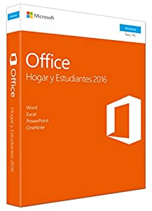 office 365 personal: Microsoft - Office Hogar y Estudiantes 2016 - 1 licencia para PC