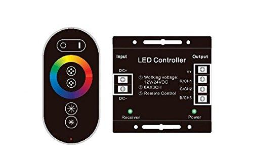 Steuergerät LED RGB-Steuergerät mit Fernbedienung Touch RF Radio 12/24 DC -
