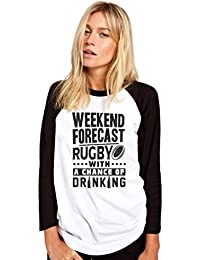 HotScamp Weekend Forecast - Rugby With a Chance Of Drinking - Womens Baseball Top