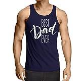 Weste Bester Vati überhaupt glücklicher Vatertag oder Geburtstagsgeschenk für Ehemann (Small Blau Mehrfarben)