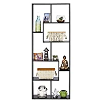 YourHome Rectangle Cube Bookcase, storage shelf Display unit, Floor Standing Shelving for Home & Office Living Room Furniture (Black)