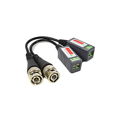 PNI ACCTVVB Adapter 201C Video Balun passives, BNC, 2er Set, Kabel 600 m Chrom/Schwarz -